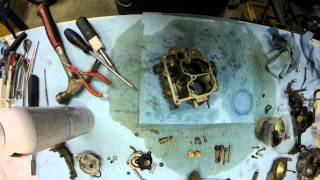 Carburetor rebuild time lapse
