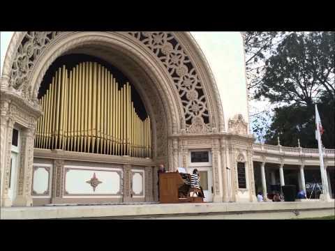 San Diego Balboa Park organ concert Sunday 1-25-2015