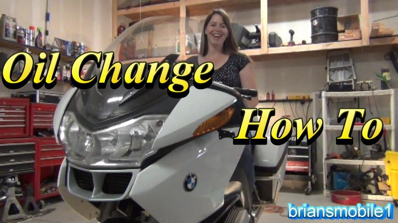 bmw r1200rt police motorcycle oil change - youtube