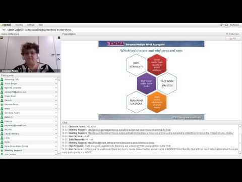EMMA webinar - Using Social Media effectively in your MOOC