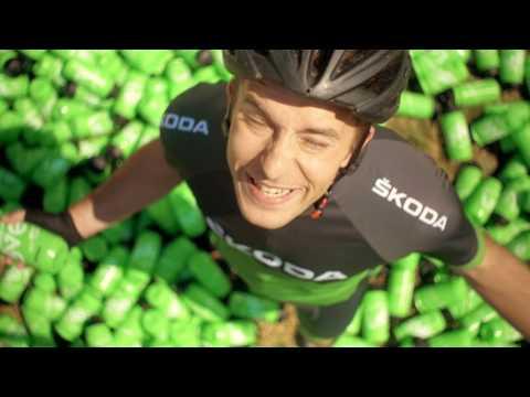 Tour de France-Härtetest: SKODA KAROQ mit VarioFlex-Rückbank bietet Platz für bis zu 1.000 Trinkflaschen