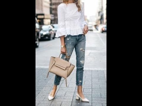 Trendy jeans street style 2019