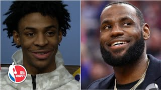 Ja Morant praises LeBron James' impact on and off the court | NBA Sound