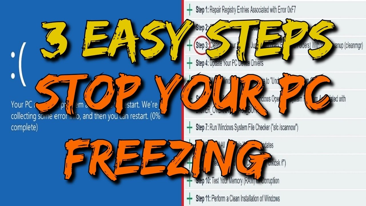 How To: Fix Windows 10 Freezing Issues