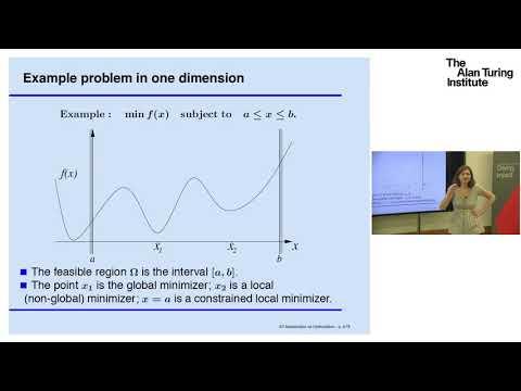Optimisation - an introduction: Professor Coralia Cartis, University of Oxford