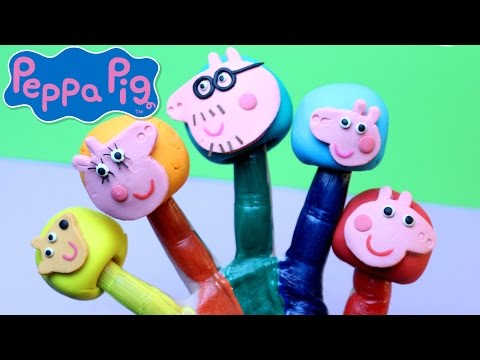 PEPPA PIG Finger Family Song and Peppa Pig Surprise Eggs Opening