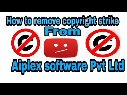 How to remove copyright strike from aiplex software Pvt Ltd | In Hindi |