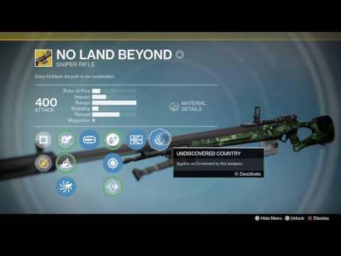Destiny: No Land Beyond Ornament Changes Muzzle Sway