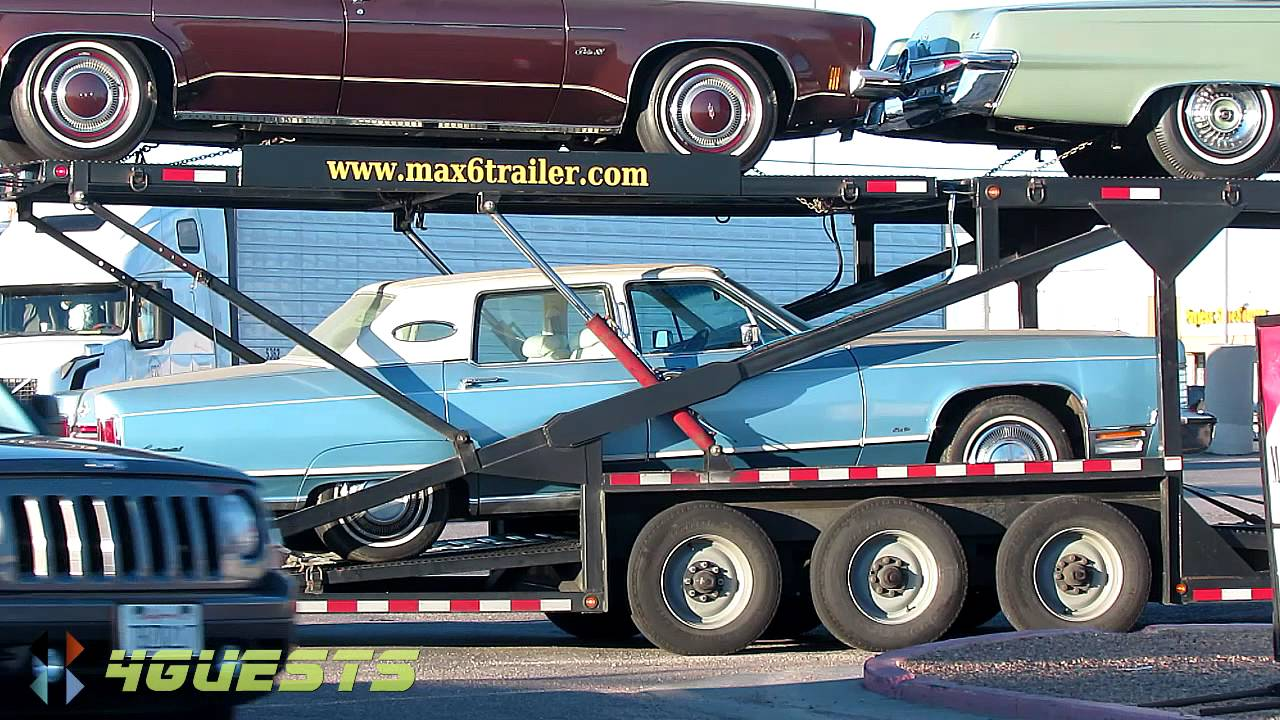 Kaufman Max 6 Car Trailer Hauler With Classic Cars