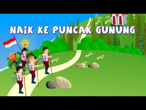 Naik Naik Ke Puncak Gunung | Lagu Anak TV | Let's Climb The Mountain So High In Bahasa Indonesia