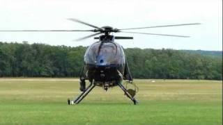 McDonnell Douglas MD500E R 502 helicopter takeoff, fast fly-by, landing / Gödöllő 2011