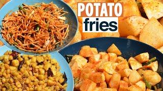 Aloo Fry - Potato Fry recipe - Crispy french fries Potato tips
