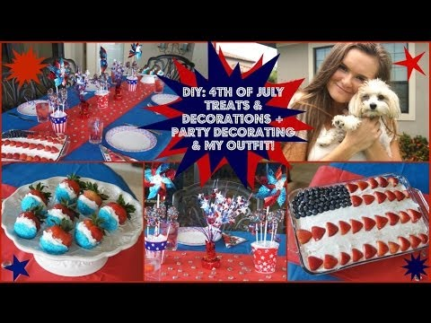 4th Of July Treats Decorations Party Decorating Ideas