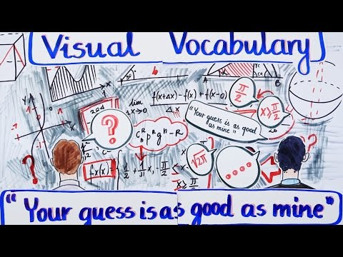 Visual Vocabulary - Your Guess Is As Good As Mine - Speak English Fluently and Naturally