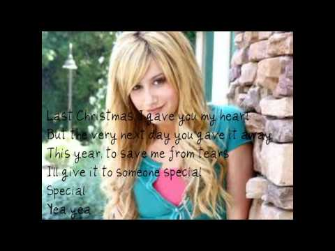 Ashley Tisdale- Last Christmas (lyrics)