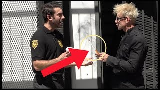 SECURITY GUARD PRANKED By MAGICIAN!!! (I ALMOST FAILED!)