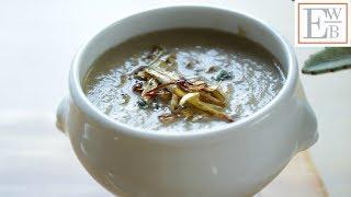 Beth's Cream of Mushroom Soup with Crispy Leeks | ENTERTAINING WITH BETH