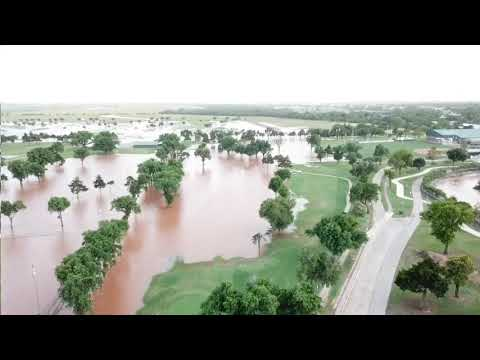 Kingfisher OK Flood 05/21/19 - Drone View