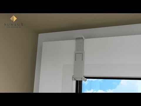 animation plissee cosiflor vs 2 montage im glasfalz mittels falzfix klemmtr ger youtube. Black Bedroom Furniture Sets. Home Design Ideas