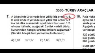 SPK Lisanslama - 2012 Sınav 2 Modül 3560 Soru 7