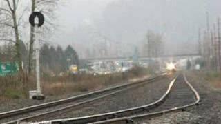 Amtrak #7 @ Track Speed through Monroe, WA