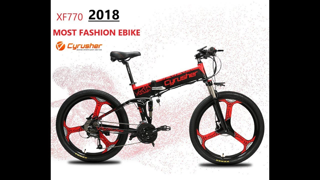 Cyrusher Xf770 Full Suspeion Folding Electric Bike