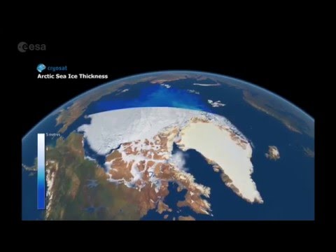Satellite images show the Antarctic and Greenland ice