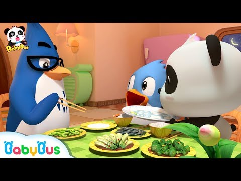 Baby Panda Loves Vegetables | Thanksgiving | Don't Waste Food | BabyBus Cartoon