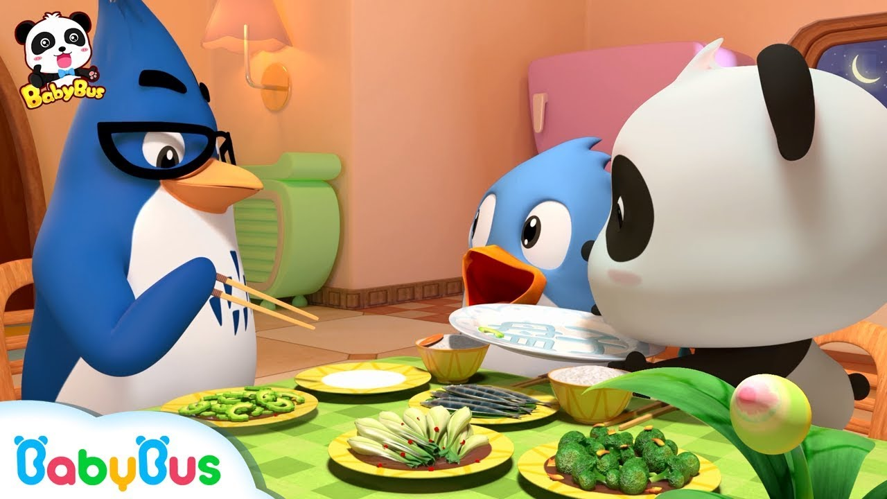 Download Baby Panda Loves Vegetables   Thanksgiving   Don't Waste Food   BabyBus Cartoon