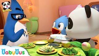 Baby Panda Loves Vegetables Thanksgiving Don 39 T Waste Food Babybus Cartoon