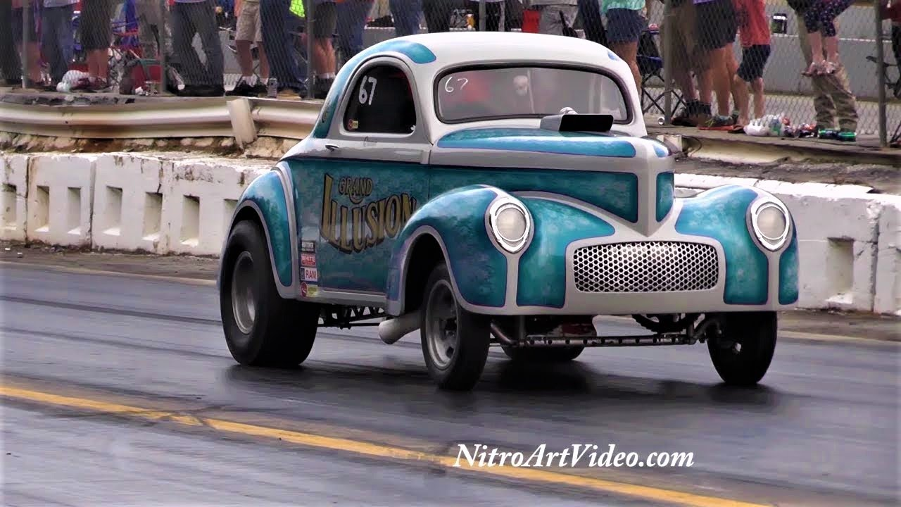 Shady Side Dragway Shelby, NC 2018 Southeast Gassers Association Heads Up  Drag Racing (NT) No Time