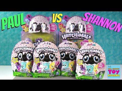 Paul vs Shannon Bonus Hatchimals Colleggtibles Surprise Egg Challenge | PSToyReviews