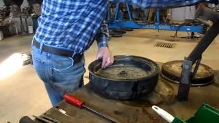 How to mount tire on gauge wheel