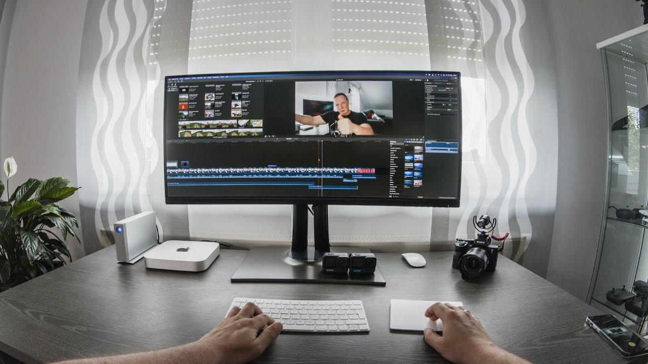 Mit diesem Setup / Computer schneide ich meine 4K YouTube & Drohnen Videos