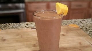 Chocolate Mango Smoothie with Chia Seeds - Summer Drinks