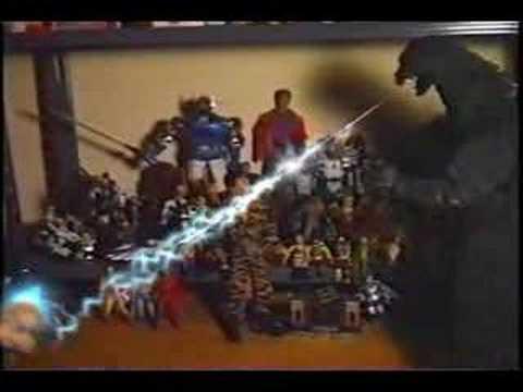 SLOTJAW 's TOY BOX #1  Godzilla Vs Joe & Giant Robot  1989
