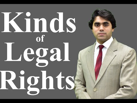 Kinds of Legal Rights - Kinds of Rights - Rights and Duties - Video Lecture by Wajdan Bukhari