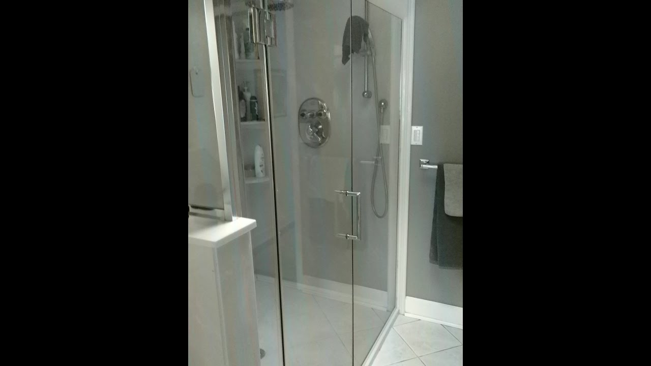 Install a 3 panel Dreamline Unidoor X Style M Shower Enclosure & Install a 3 panel Dreamline Unidoor X Style M Shower Enclosure - YouTube