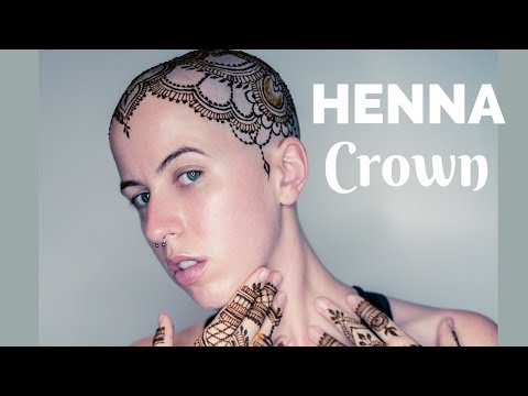 Full Henna Crown Tutorial | Henna Tattoo For The Head