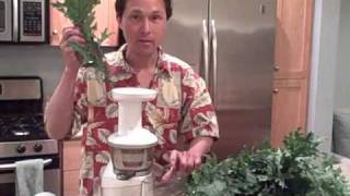 Juicing Only Kale In The Omega Vrt330 Vert Juicer To Make A 100% Green Juice