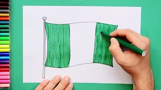 How to draw and color the National Flag of Nigeria