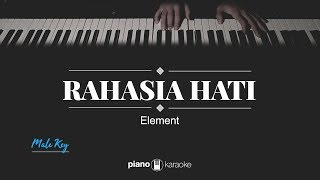 Download Lagu Rahasia Hati (MALE KEY) Element (KARAOKE PIANO) mp3