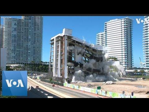 Miami Beach, Florida, Hospital Imploded