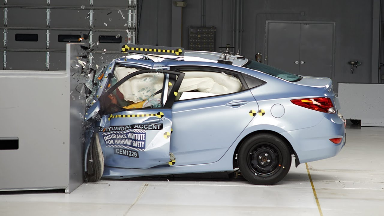 2013 Hyundai Accent Driver Side Small Overlap Iihs Crash