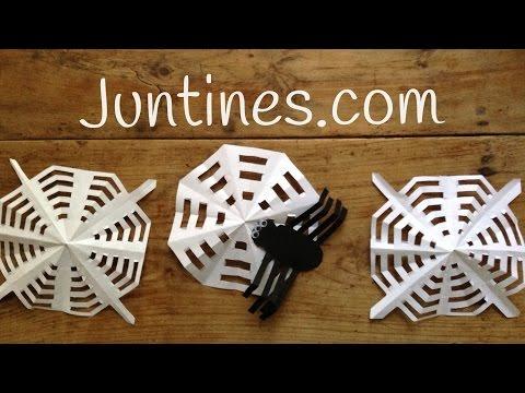 Araña de papel para Halloween, una idea terrorífica para decorar