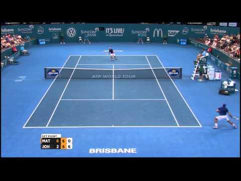 Marinko Matosevic v Steve Johnson highlights (1R) - Brisbane International 2015