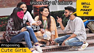 Bluetooth Prank Proposing Cute Girls  Singing Mix | UOL | Prank In Pakistan