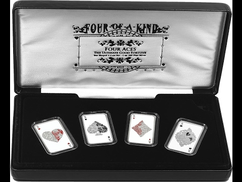 Stacking Silver: 2015 '4 of a Kind' Bar Shaped Coin Set - Tokelau