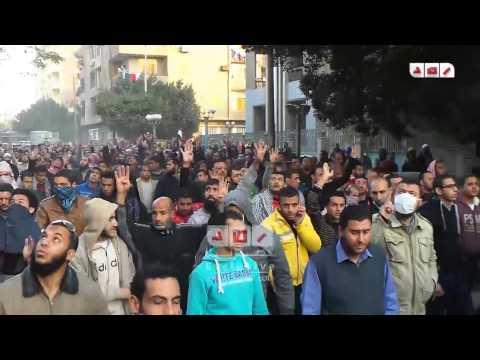 مسيرة مسجد شاهين لمعارضى الانقلاب للتنديد بعتداء الداخليه على مسيرة الاستقامه بحلوان