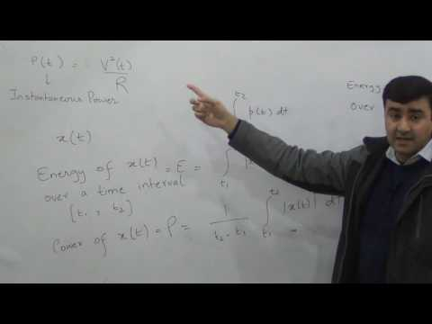 Signal Energy and Power, Time shift, Signals & Systems Lec 2/28